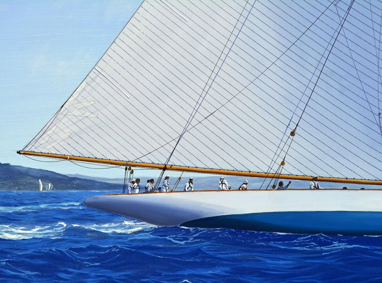 English 'Navigating the Med' Large Detailed Seascape by James Miller, British For Sale