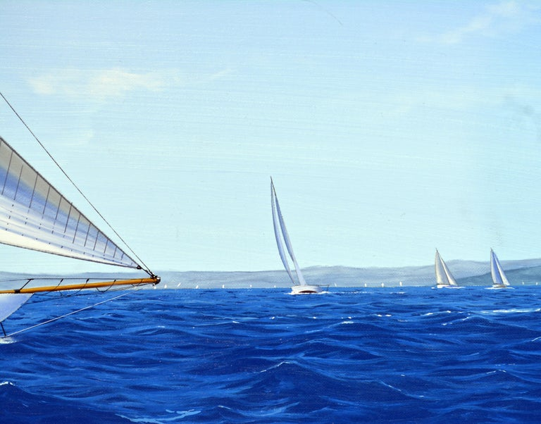 Contemporary 'Navigating the Med' Large Detailed Seascape by James Miller, British For Sale