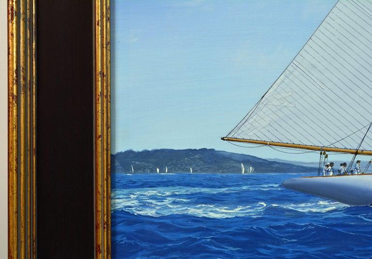 'Navigating the Med' Large Detailed Seascape by James Miller, British For Sale 1