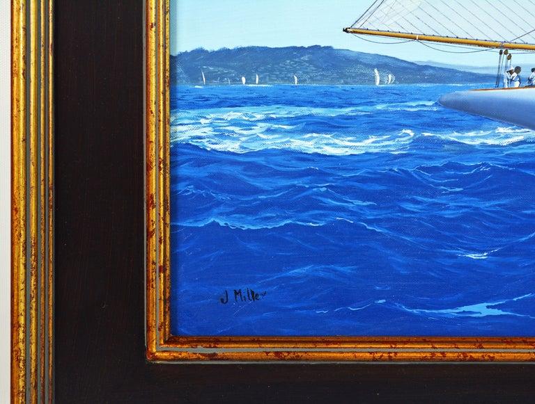 'Navigating the Med' Large Detailed Seascape by James Miller, British For Sale 2