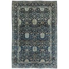 Navy Blue Antique Persian Kirman