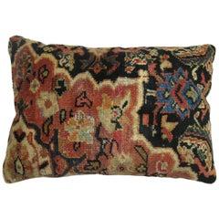 Navy Blue Antique Persian Mahal Rug Pillow