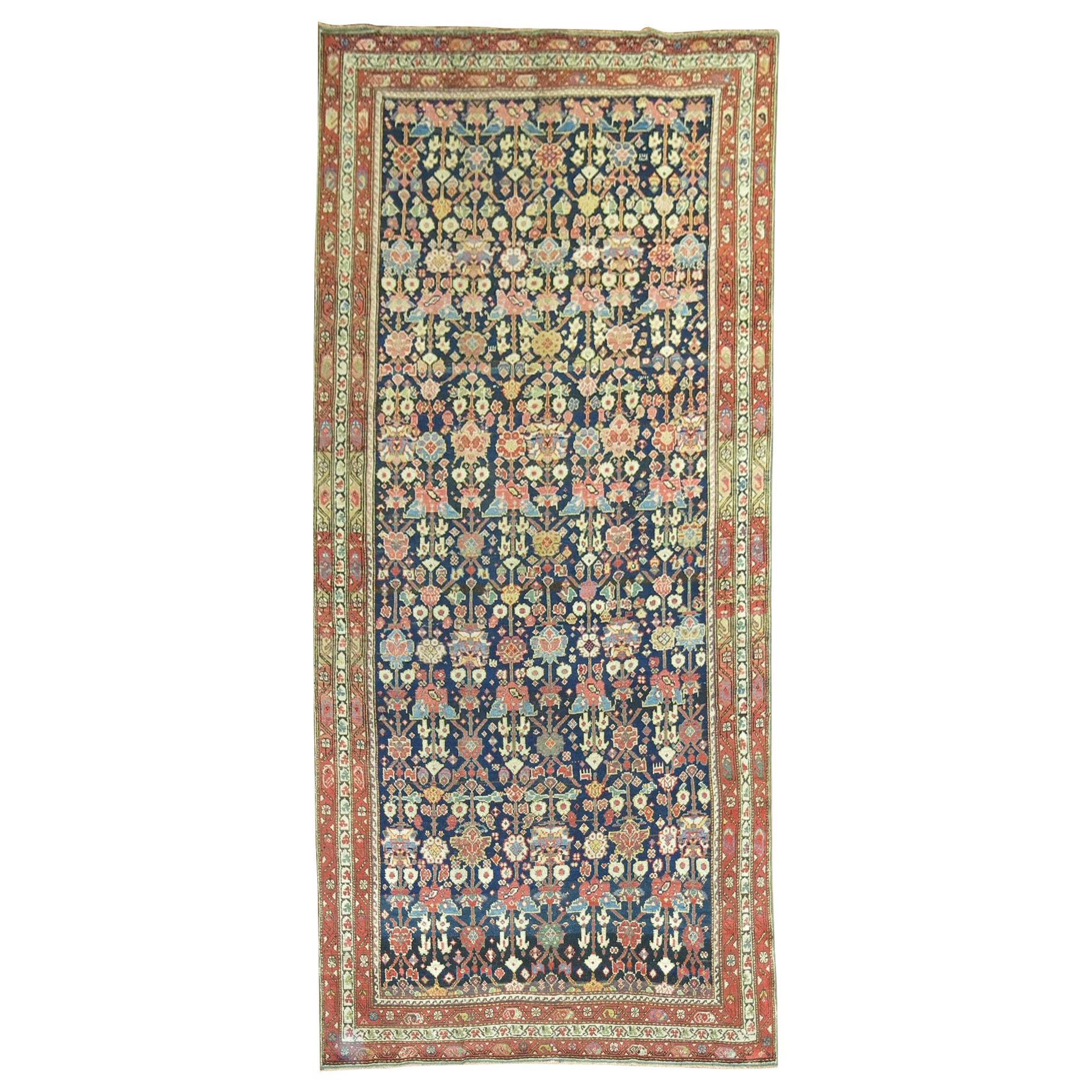 Navy Blue Antique Persian Malayer Rug