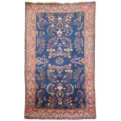 Navy Blue Antique Persian Sarouk Rug
