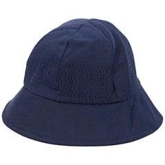Navy Blue Christian Dior Logo Bucket Hat