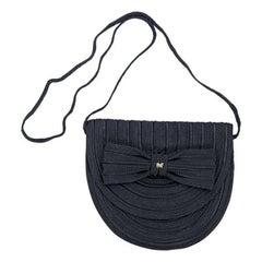 Navy Blue Nina Ricci Rope Clutch