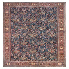 Navy Oversize Square Persian Mahal Traditional Wool Oriental Rug