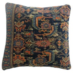 Navy Persian Bidjar Rug Pillow