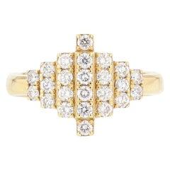 Nazarelle 18 Karat Yellow Gold Diamond Ring