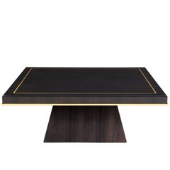 Nazarova Coffee Table, High Gloss Macassar Ebony and Gold Leaf Detail