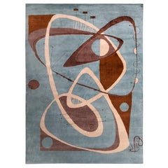 Nazmiyal Collection Abstract Mid Century Modern Rug 8 ft 11 in x 11 ft 10 in