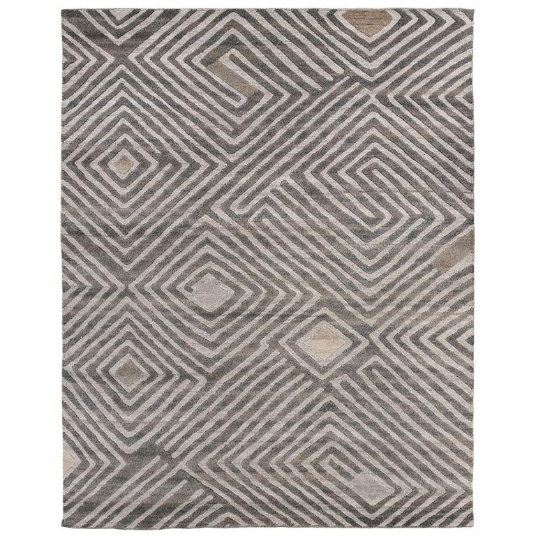 Nazmiyal Collection African Retro Rug. Size: 9 ft x 12 ft For Sale