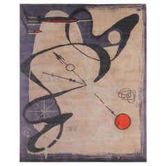 Nazmiyal Collection Artistic Mid Century Modern Rug 8 ft 2 in x 10 ft 2 in