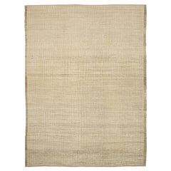 Nazmiyal Collection Beige Color Modern Distressed Rug. 10 ft 4 in x 13 ft 7 in
