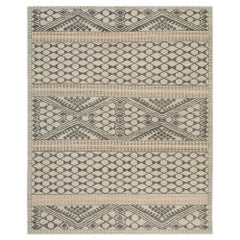 Nazmiyal Collection Beige Geometric Modern Boutique Area Rug 12 ft x 18 ft