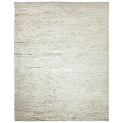 Nazmiyal Collection Beige Modern Moroccan Style Rug 9 ft 3 in x 11 ft 8 in