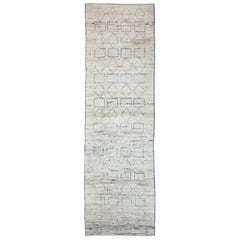 Nazmiyal Collection Berber Design Modern Moroccan Style Rug 2ft 8 in x 9ft 8 in