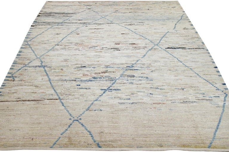 Nazmiyal Collection Berber Design Modern Moroccan Style Rug 9 ft 1 in x 12 ft In New Condition For Sale In New York, NY
