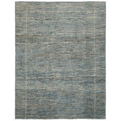 Nazmiyal Collection Berber Modern Moroccan Style Rug 9 ft 2 in x 11 ft 10 in