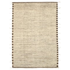 Nazmiyal Collection Brown Color Modern Distressed Rug. 9 ft 8 in x 13 ft 7 in