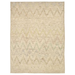 Nazmiyal Collection Brown Modern Distressed Rug. 10 ft 7 in x 13 ft 5 in