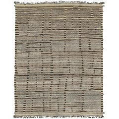 Nazmiyal Collection Brown Modern Distressed Rug 8 ft 10 in x 11 ft 7 in