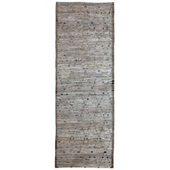 Nazmiyal Collection Brown Modern Moroccan Style Runner Rug 3 ft 2 in x 9 ft 3 in