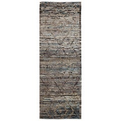 Nazmiyal Collection Brown Modern Moroccan Style Runner Rug. 3ft 3 in x 9ft 3 in