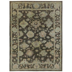 Nazmiyal Collection Brown Modern Turkish Oushak Rug 10 ft 1 in x 12 ft 4 in