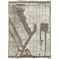 Nazmiyal Collection Brown Tones Modern Distressed Rug 10 ft x 13 ft 7 in