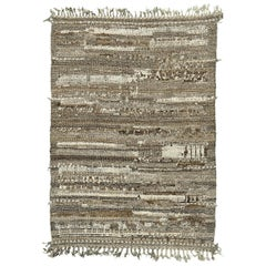 Nazmiyal Collection Brown Tones Modern Distressed Rug 4 ft 2 in x 5 ft 11 in