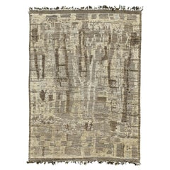 Nazmiyal Collection Charcoal Brown Modern Distressed Rug 10 ft 2 in x 14 ft 4 in