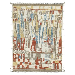 Nazmiyal Collection Colorful Modern Boho Chic Rug. 10 ft 1 in x 14 ft 4 in