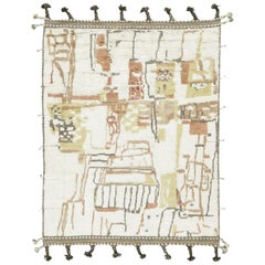 Nazmiyal Collection Colorful Modern Boho Chic Rug. 7 ft 10 in x 10 ft 3 in