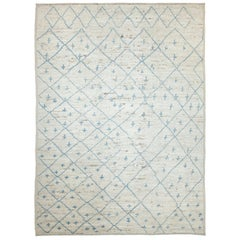 Nazmiyal Collection Cream Modern Moroccan Style Rug 8 ft 9 in x 12 ft