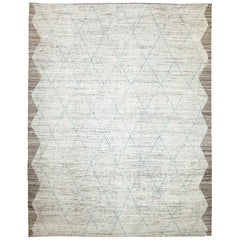 Nazmiyal Collection Cream Modern Moroccan Style Rug 9 ft 4 in x 11 ft