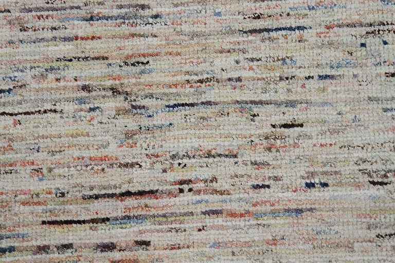 Beautiful Cream Modern Moroccan Style Afghan Runner Rug, Country of Origin: Afghanistan, Circa Date: Modern - Size: 2 ft 8 in x 9 ft 8 in (0.81 m x 2.95 m).