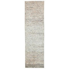 Nazmiyal Collection Cream Modern Moroccan Style Runner Rug 2 ft 8 in x 9 ft 8 in
