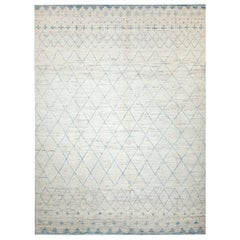 Nazmiyal Collection Cream Room Size Modern Moroccan Style Rug 10 ft x 13 ft 1 in