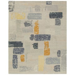 Nazmiyal Collection Decorative Cream Modern Boutique Area Rug 12 ft x 15 ft