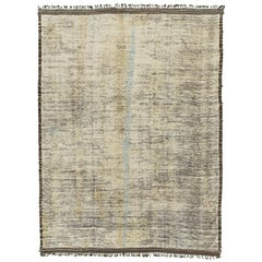 Nazmiyal Collection Decorative Modern Distressed Rug 9 ft 8 in x 13 ft 4 in