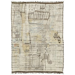 Nazmiyal Collection Decorative Modern Distressed Rug 9 ft 9 in x 13 ft 8 in