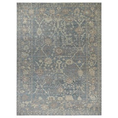 Nazmiyal Collection Decorative Modern Turkish Oushak Rug 11 ft 8in x 14 ft 11 in