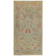 Nazmiyal Collection Decorative Modern Turkish Oushak Rug 3 ft 6 in x 6 ft 6 in