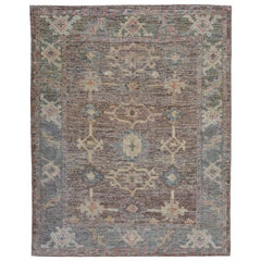 Nazmiyal Collection Earth Tone Modern Turkish Oushak Rug 5 ft 1 in x 6 ft 5 in