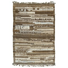 Nazmiyal Collection Earth Tones Modern Distressed Rug 5 ft 11 in x 8 ft 10 in