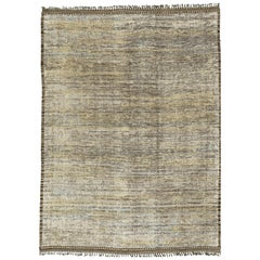 Nazmiyal Collection Earth Tones Modern Distressed Rug 9 ft 10 in x 13 ft 8 in