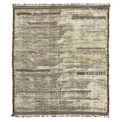 Nazmiyal Collection Earthy Tones Modern Distressed Rug 8 ft 6 in x 9 ft 10 in