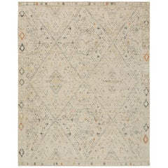 Nazmiyal Collection Geometric Beige Modern Boutique Rug 12 ft x 18 ft