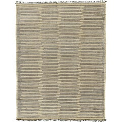 Nazmiyal Collection Geometric Beige Modern Distressed Rug 10 ft x 13 ft 5 in